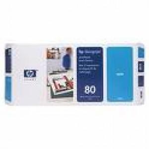 Печ. головка HP No.80 & Cleaner DesignJ1050/1055 cyan